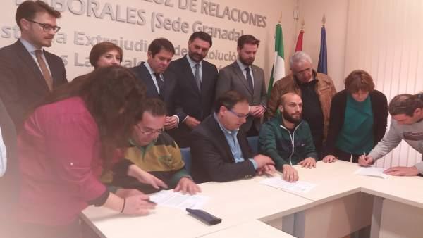 Firma del convenio provincial de hostelería