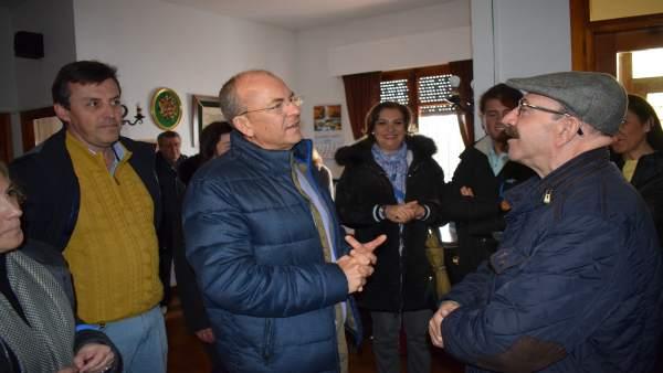 José Antonio Monago durante su visita a Zafra