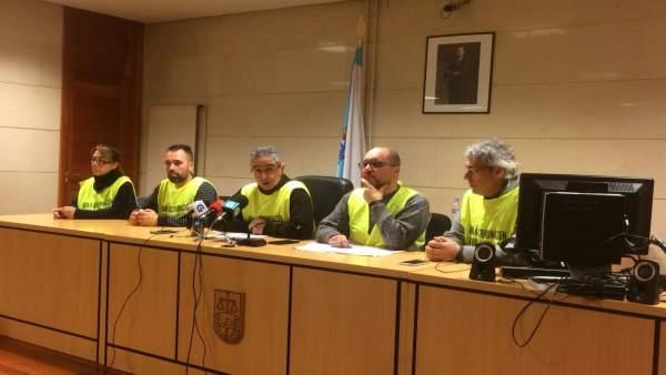 Rueda de prensa del comité de huelga