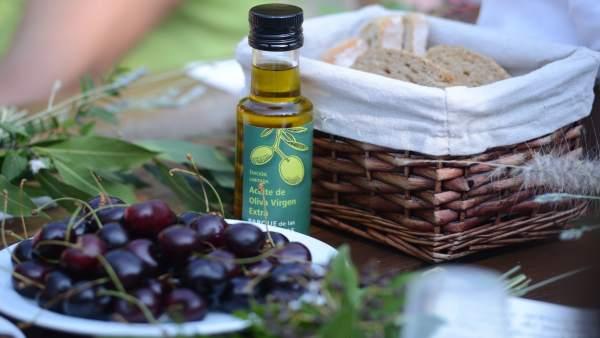 Desayuno saludable con aceite de oliva