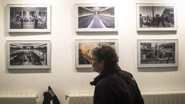 Exposición sobre el metro de Granada