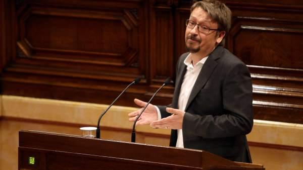 Xavier Domènech, diputado de Catalunya en Comú-Podem, este jueves en el Parlament.