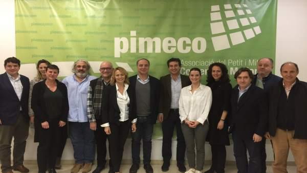 Reunión entre el PP y Pimeco