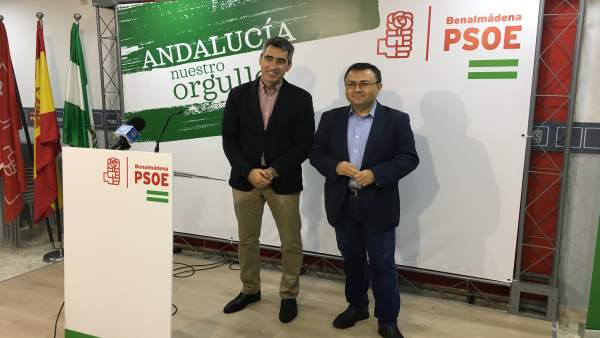 Victor Navas y Miguel Ángel Heredia en rueda de prensa en Benalmádena