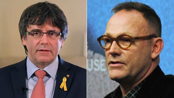 Carles Puigdemont y Ben Emmerson