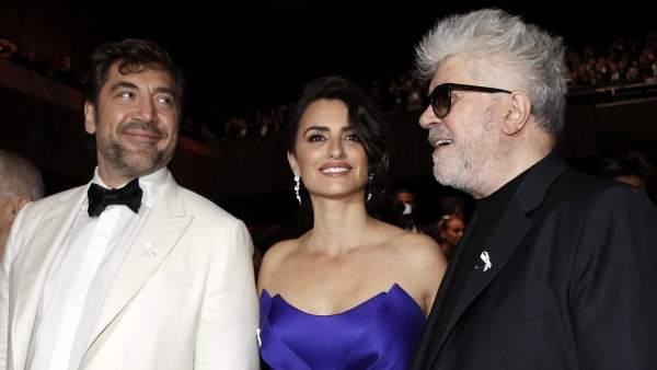Javier Bardem, Penélope Cruz y Pedro Almodóvar