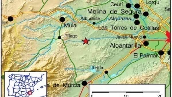 Un movimiento sísmico de magnitud 4,1 y con epicentro en Albudeite