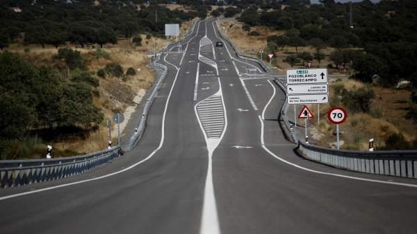 La carretera autonómica A-435 en Córdoba
