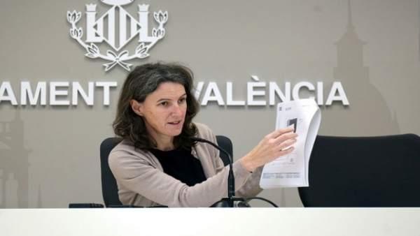 La segunda teniente de alcalde y portavoz de València en Comú, María Oliver