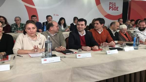 El secretario xeral del PSdeG, Gonzalo Caballero, en el Comité