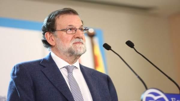 Rajoy en un acto del PP en Girona