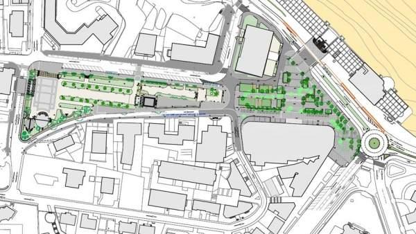 Plano de la remodelación de la Plaza de Italia