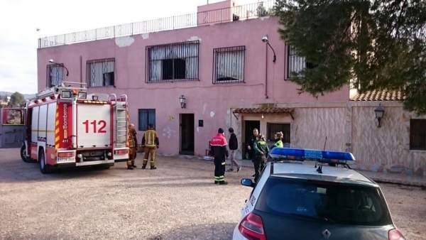 Incendio en una vivienda en Sax (Alicante)