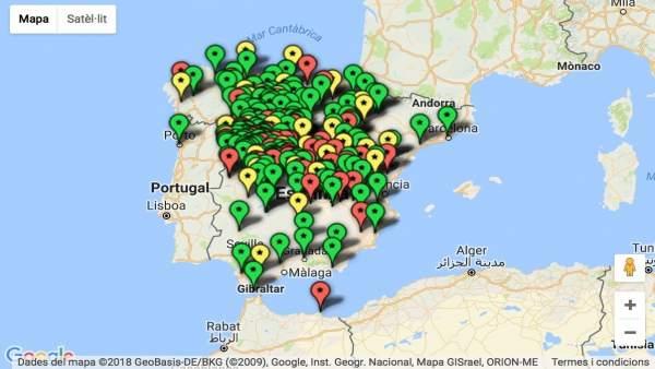 Mapa memoria histórica de Compromís
