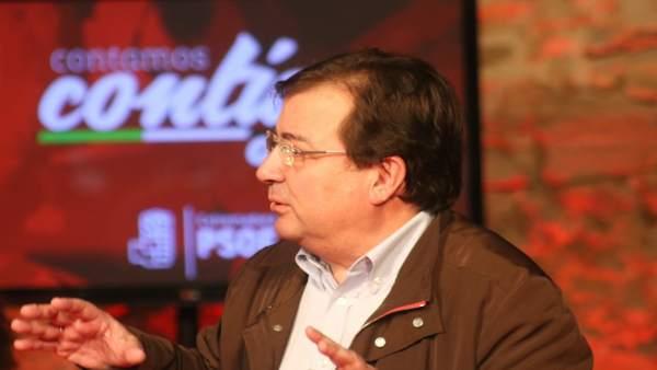Guillermo Fernández Vara en un acto del PSOE