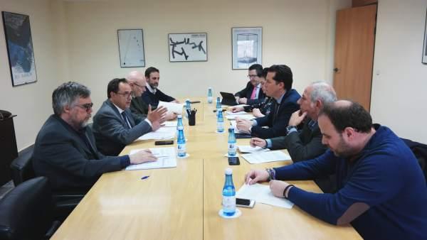 El conseller Vicent Soler y el presidente de la FVMP, Rubén Alfaro, reunidos