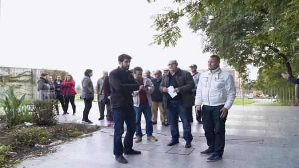 Javier Moyano visita el Parque de la Música