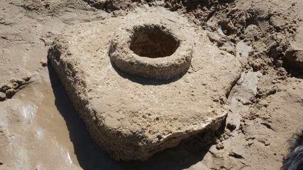 Aparecen restos del acueducto en Cortadura