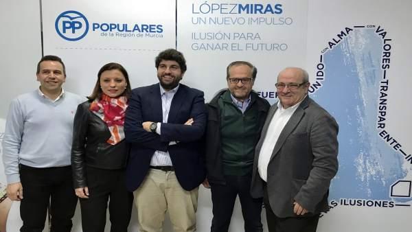 López Miras en uno de sus encuentros con afiliados