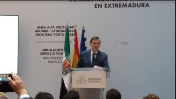 Mariano Rajoy en Badajoz