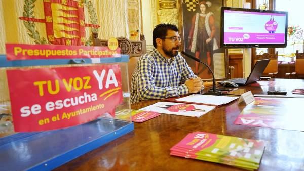 El concejal de Participación Ciudadana, Alberto Bustos