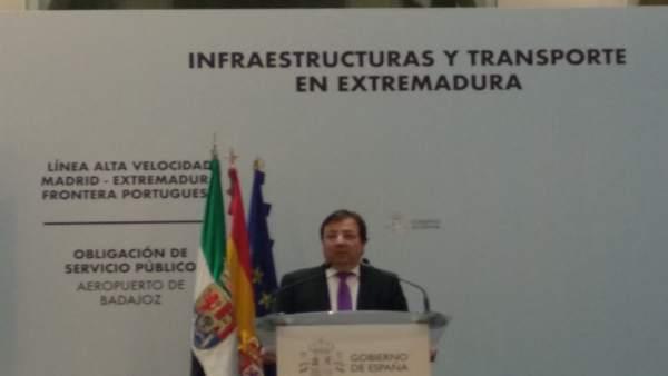 El presidente extremeño, Guillermo Fernández Vara