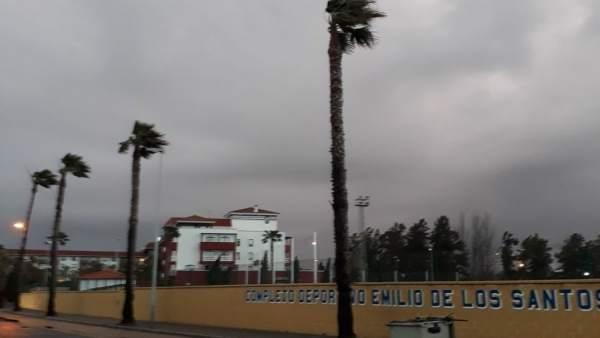 Temporal de viento en Huelva