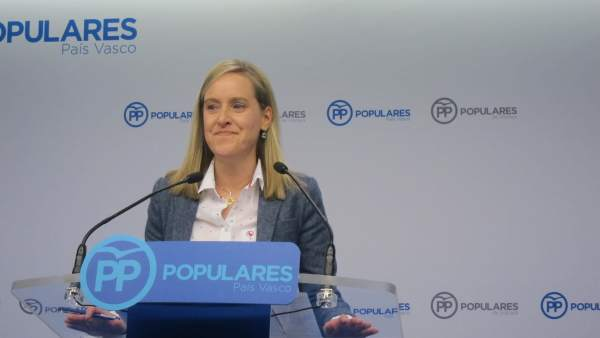 La secretaria general del PP vasco, Amaya Fernández