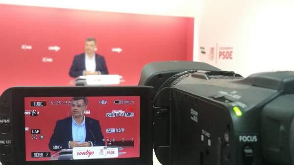 Portavoz del PSOE de Extremadura, Juan Antonio González