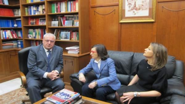 Visita al nuevo presidente de la Audiencia de Jaén