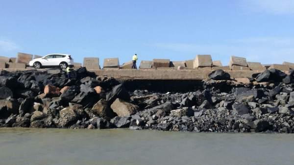 El puerto de Huelva registra obras de emergencia tras los efectos del temporal