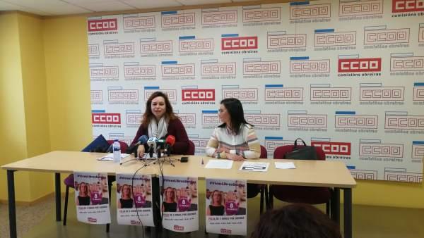 La secretaria de Mujer e Igualdad de CC.OO. Galicia y la economista Silvia Parga