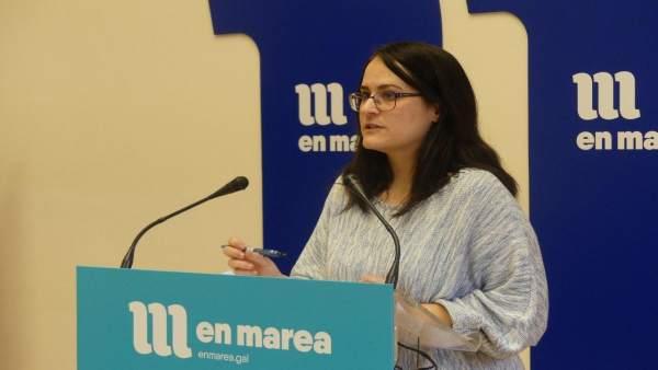 Paula Vázquez Verao, diputada de En Marea, en rueda de prensa