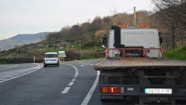 Grúa, carretera vasca