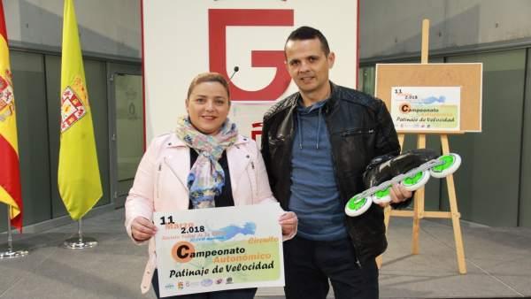 Presentación del Campeonato Andaluz de Patinaje de Velocidad