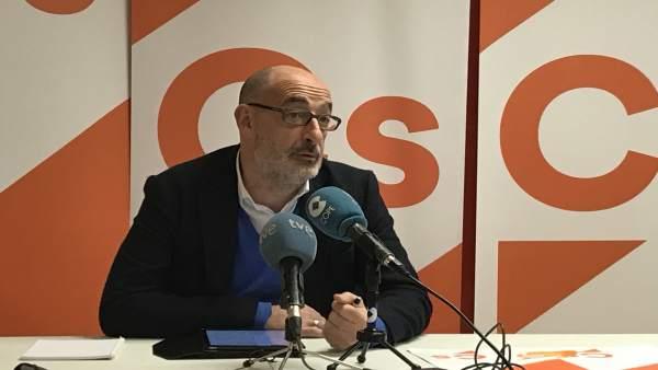 El portavoz de Cs en Cantabria y diputado nacional Féliz Álvarez