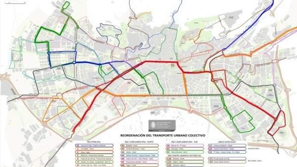 Nuevo mapa de autobuses de Granada