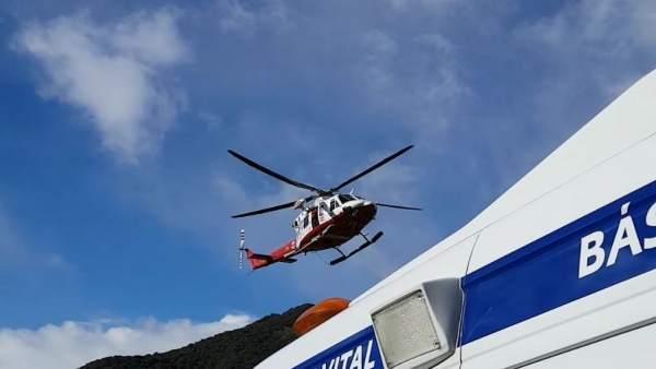 Evacuación en helicóptero