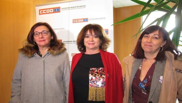 Marta Mori, Lola Santillana Y Susana Santos Ccoo