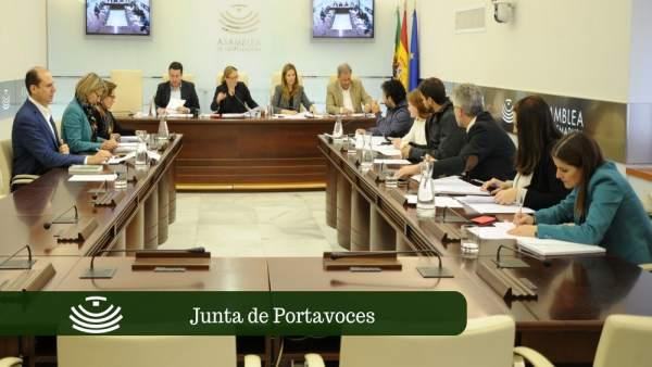 Junta de Portavoces en la Asamblea de Extremadura