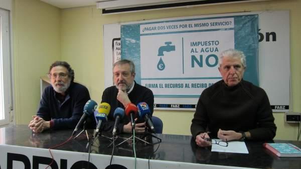 Jesús Sampériz, Miguel Ángel Oliván y José Luis Martínez, de la RAPA