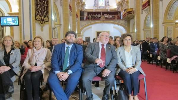 Fernando López Miras, Con Mendoza Y La Ministra De Sanidad