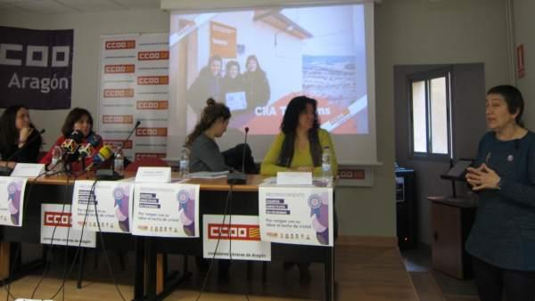 CCOO Aragón ha rendido hoy homenaje a los equipos directivos en femenino