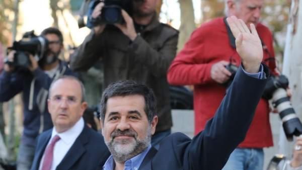 Jordi Sánchez acude a declarar a la Audiencia Nacional.