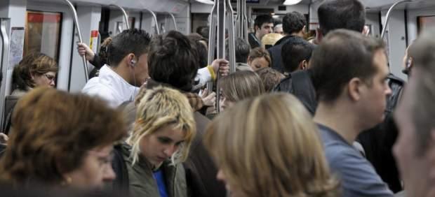 Uno de los vagones del Metro de Barcelona.