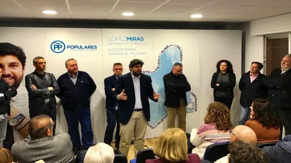 Imagen de López Miras en el acto de Caravaca