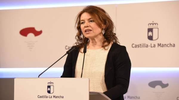 Aurelia Sánchez en rueda de prensa