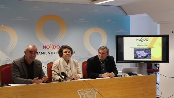 Rueda de prensa de Antonio Muñoz, Carmen Castreño y Felipe Castro