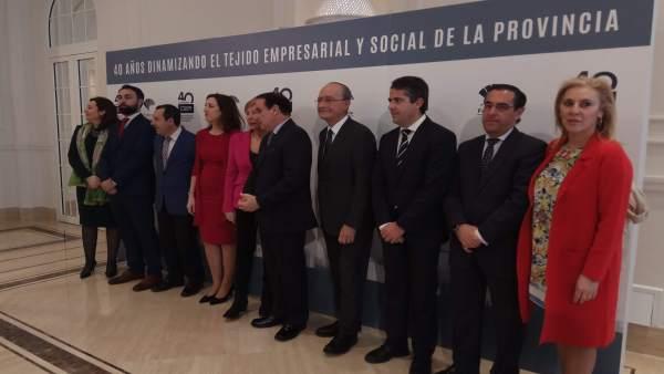 Celebración de los 40 años de la Confederación de Empresarios de Málaga