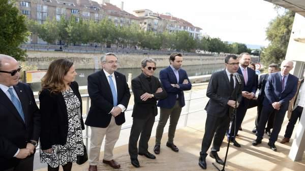 El alcalde de Murcia durante la presentación dl proyecto 'Murcia Río'